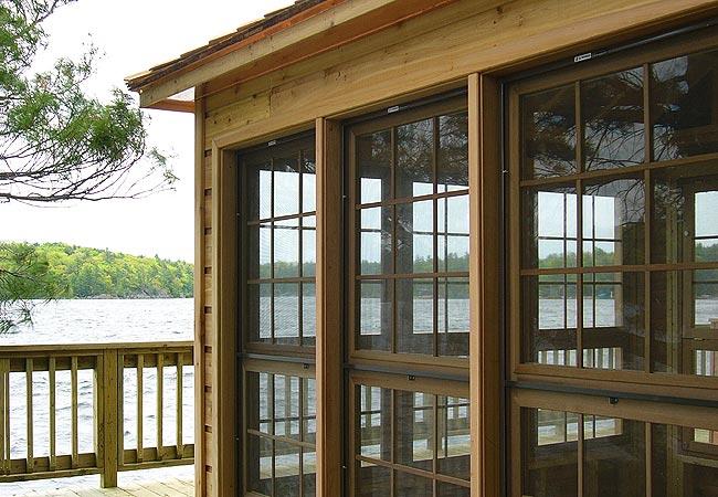 Cedar wood cabin