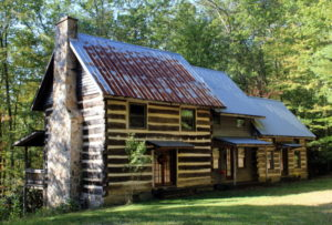 Two log stuctures have been incorporated in this lodge for sale by the author near Beckley, West Virginia.